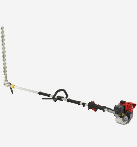 Powerful long reach hedge trimmer