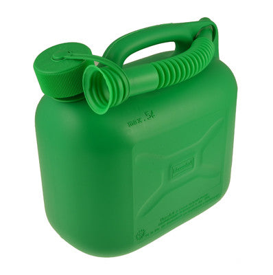 Green 5 litre fuel can