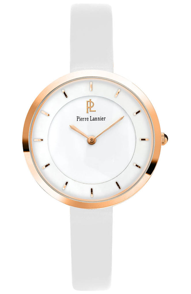 PIERRE LANNIER White Leather Strap 075J900