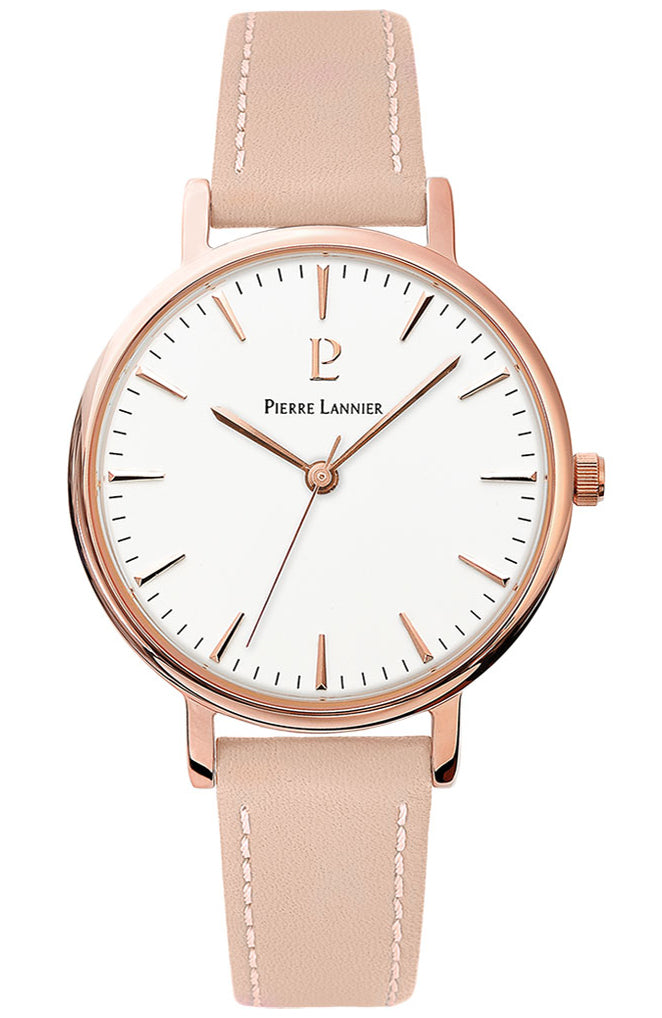 PIERRE LANNIER Symphony Pink Leather Strap 090G905