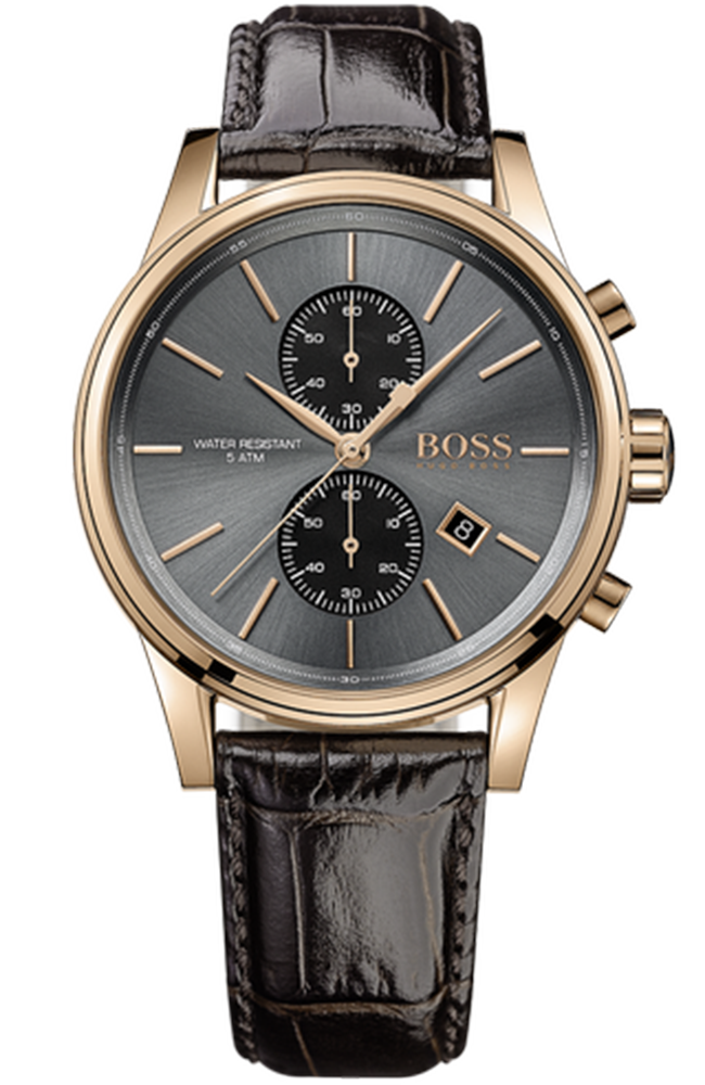 BOSS Black Men's Brown Leather Strap 1513281
