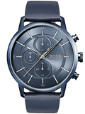 HUGO BOSS Blue Leather Strap 1513575