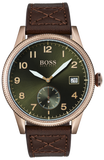 HUGO BOSS Brown Leather Strap 1513669