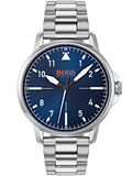 HUGO BOSS Orange Chicago Silver Stainless Steel Bracelet 1550063
