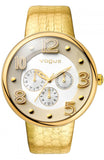 VOGUE Dome gold leather strap 17024.3