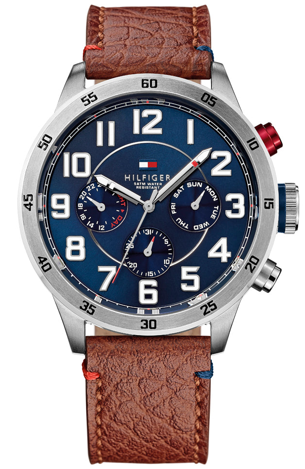 TOMMY HILFIGER Trent Multifunction Brown Leather Strap 1791066