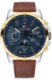 Tommy Hilfiger Decker Brown Leather Strap 1791561