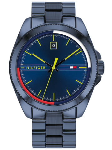 Tommy Hilfiger Denim Black Leather Strap 1791747