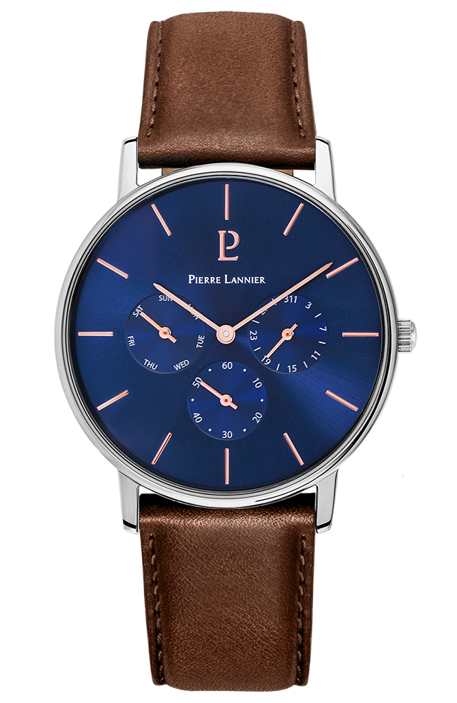 PIERRE LANNIER Cityline Brown Leather Strap 208G164