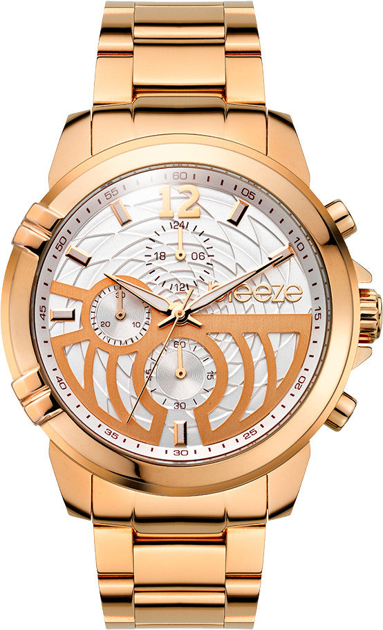 BREEZE Stylegazer Rose Gold Stainless Steel Chronograph 210601.4