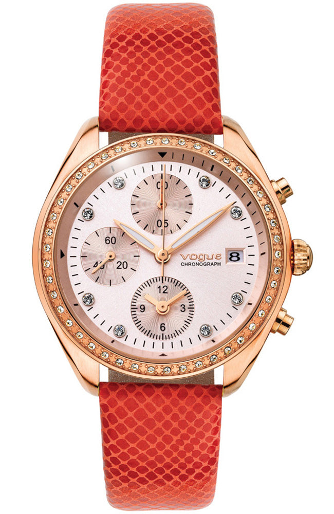 VOGUE Bellissima red leather strap 70311.3