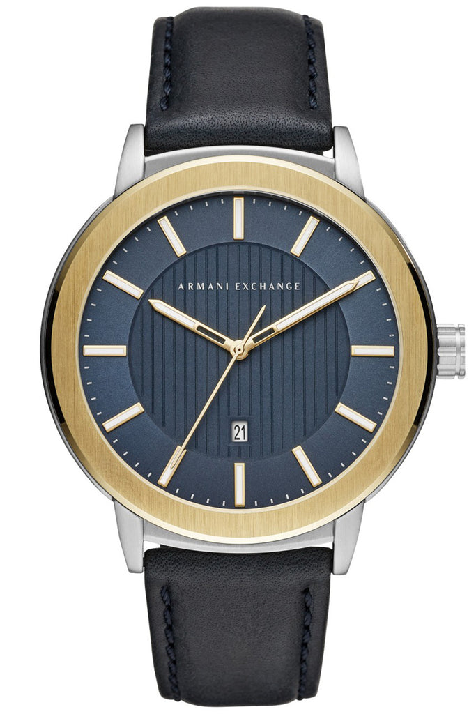 ARMANI EXCHANGE Maddox Blue Leather Strap AX1463