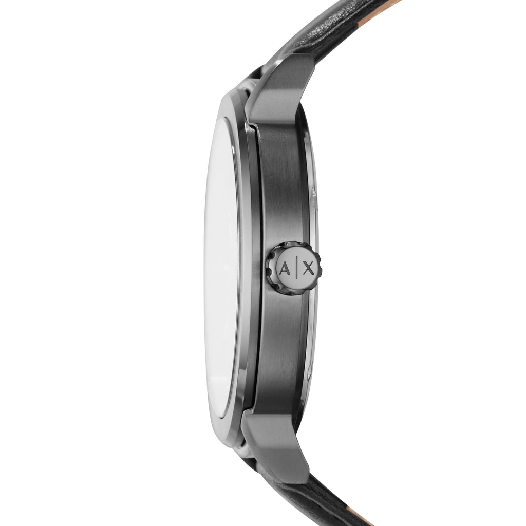 ARMANI EXCHANGE Maddox Black Leather Strap AX1473