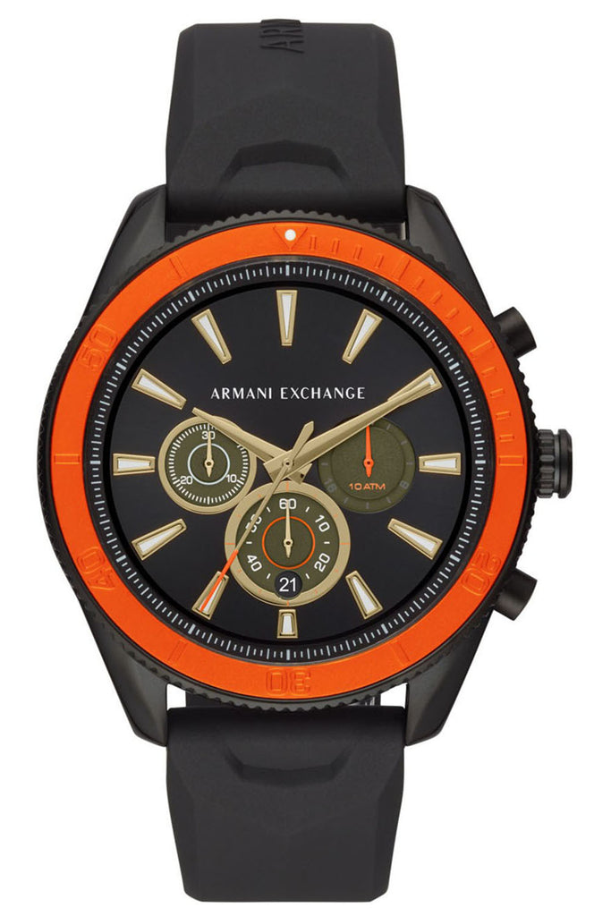 ARMANI EXCHANGE Enzo Black Rubber Chronograph AX1821