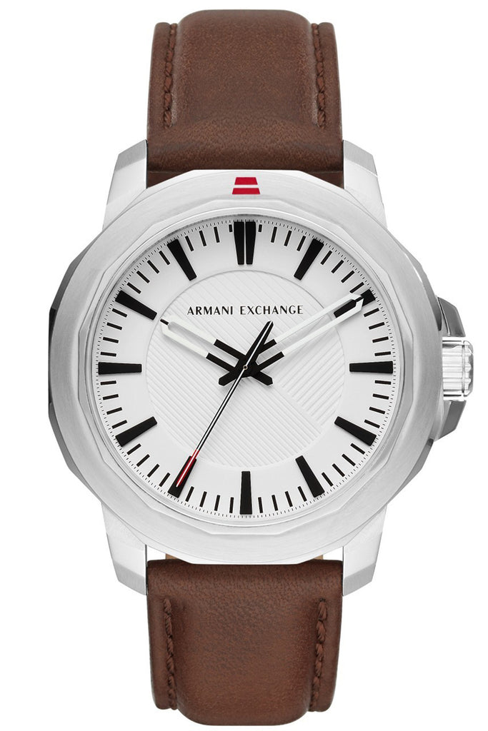 ARMANI EXCHANGE Ryder Brown Leather Strap AX1903