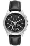 ARMANI EXCHANGE Drexler Chronograph Black Leather Strap AX2604