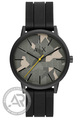 ARMANI EXCHANGE Black Leather Strap AX2805