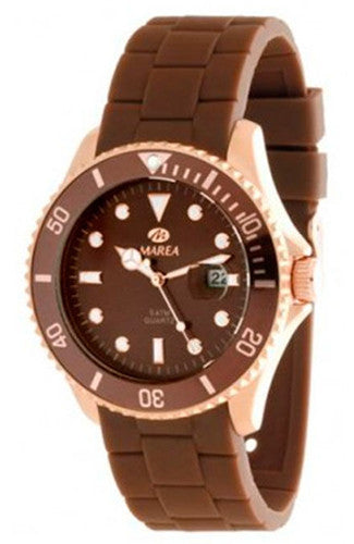 MAREA Brown Rubber Strap B42126-3