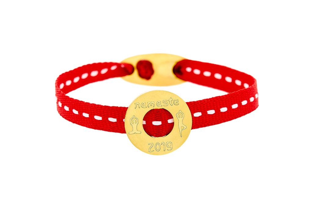 HONOR OMANO NAMASTE BRASS BRACELET (GOLD) BB109Y