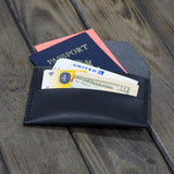 ID/PASSPORT HOLDER ΔΕΡΜΑΤΙΝΟ L106 BLACK