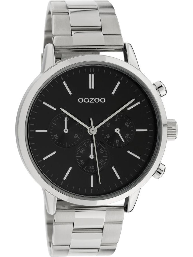 OOZOO TIMEPIECES silver stainless steel bracelet C10546