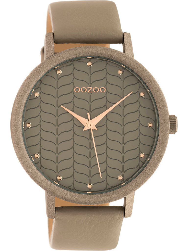OOZOO TIMEPIECES grey leather strap C10657