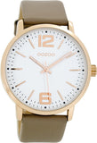 OOZOO Τimepieces Taupe Leather Strap C8506
