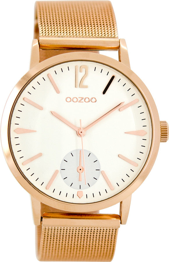 OOZOO Τimepieces Rose Gold Metallic Bracelet C8613