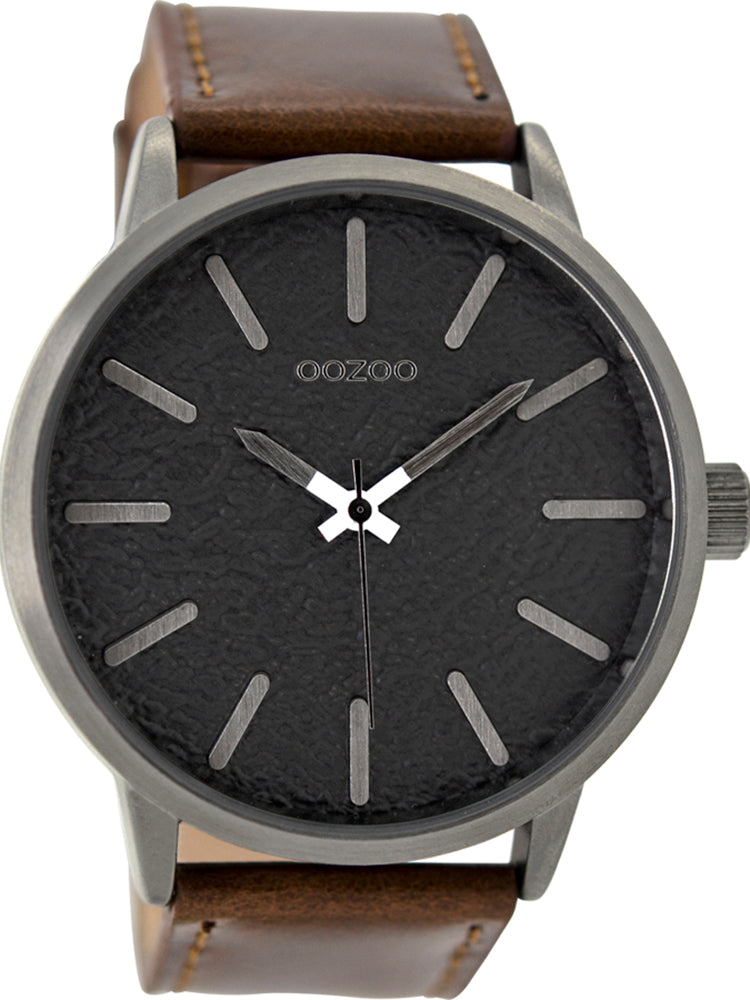 OOZOO Timepieces Brown Leather Strap C9027