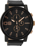 OOZOO Timepieces Black Leather Strap C9034