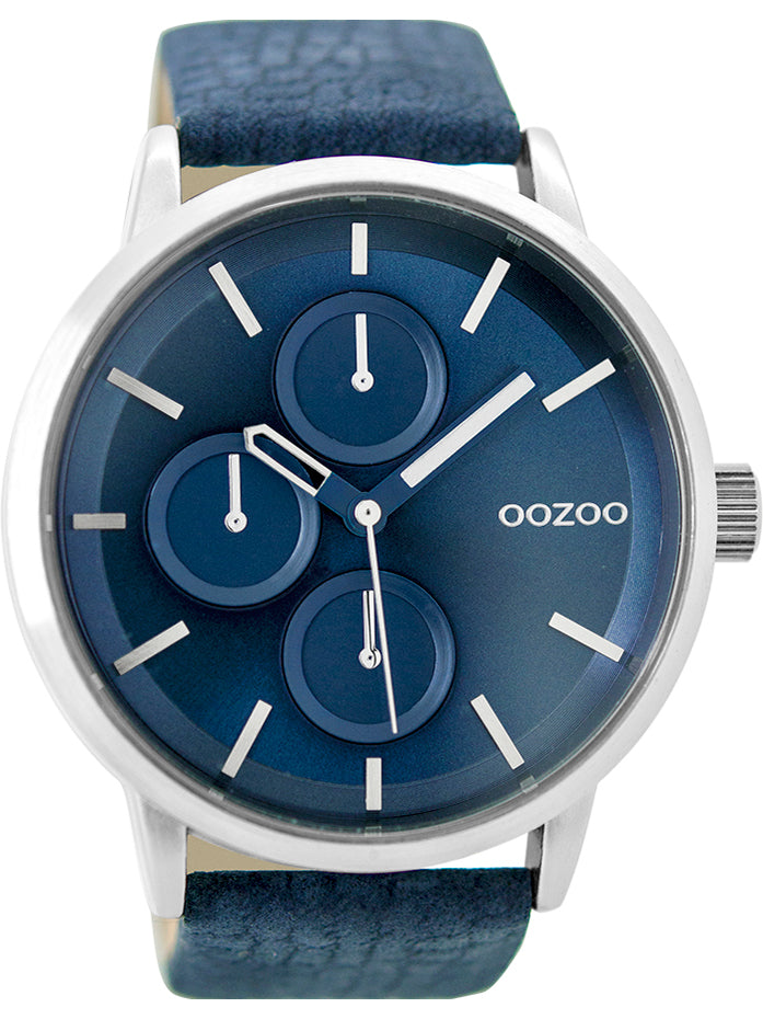 OOZOO Timepieces Blue Leather Strap C9427