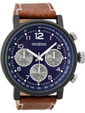 OOZOO Timepieces Brown Leather Strap C9456