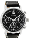 OOZOO Timepieces Black Leather Strap C9459