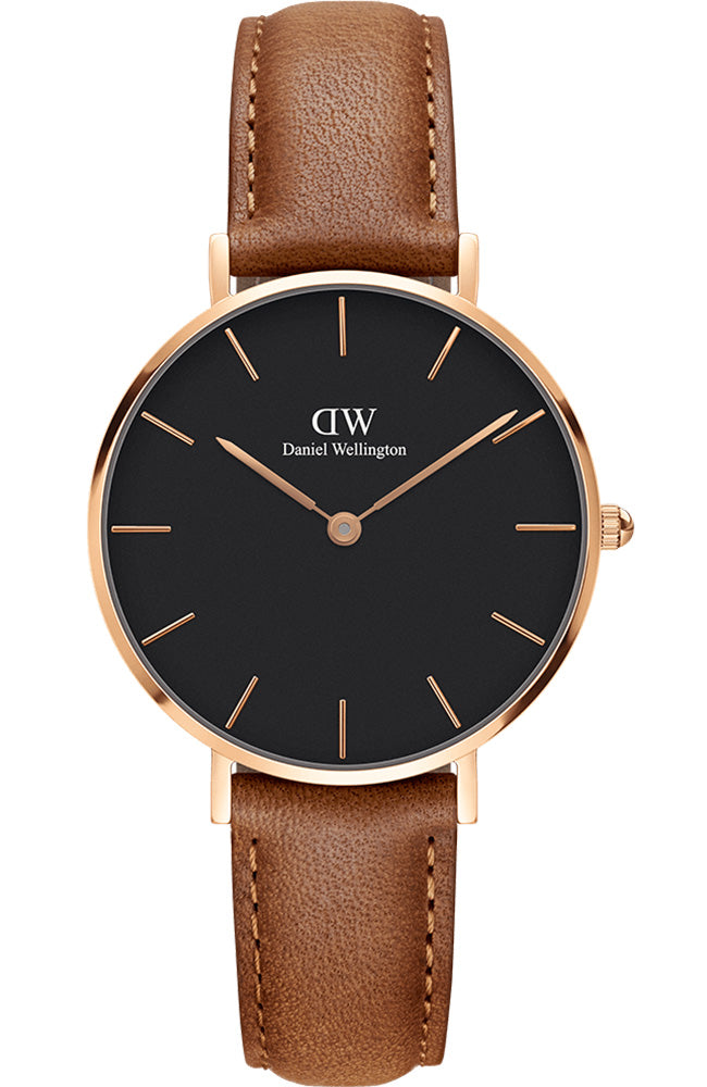 Daniel Wellington Classic Petite Durham Rose Gold Brown Leather Strap DW00100166