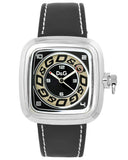 Dolce Gabbana Cherokee Black Leather Strap DW0183