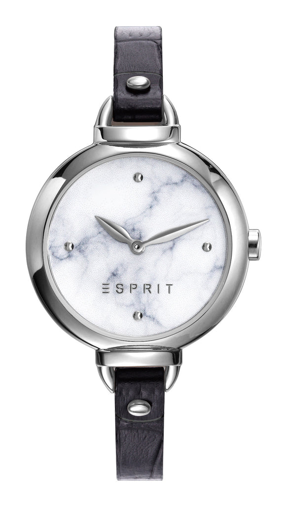 ESPRIT Black Leather Strap ES109522004