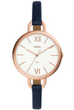 Fossil Annette Blue Leather Strap ES4355