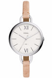 Fossil Annette Beige Leather Strap ES4357