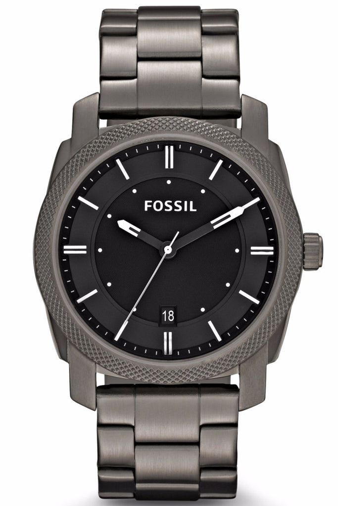 Fossil Machine Black Stainless Steel Bracelet FS4774