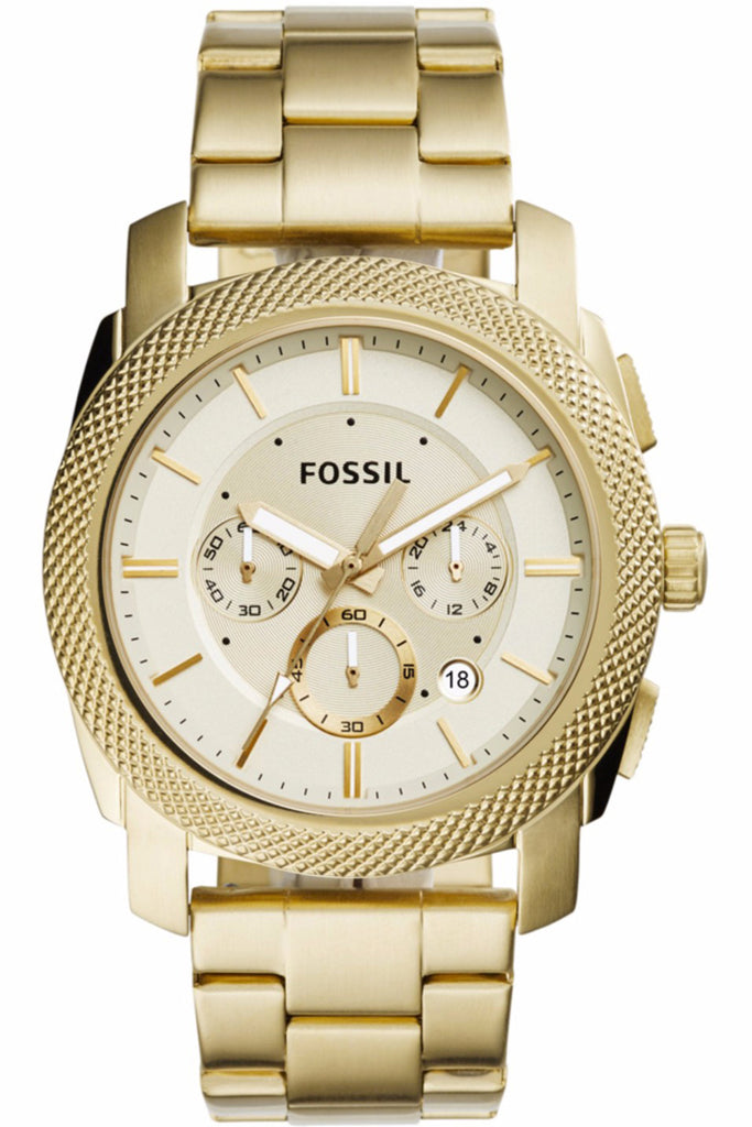 Fossil Machine Chrono Gold Stainless Steel Bracelet FS5193