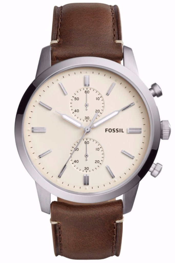 Fossil Townsman Chronograph Brown Leather Strap FS5350