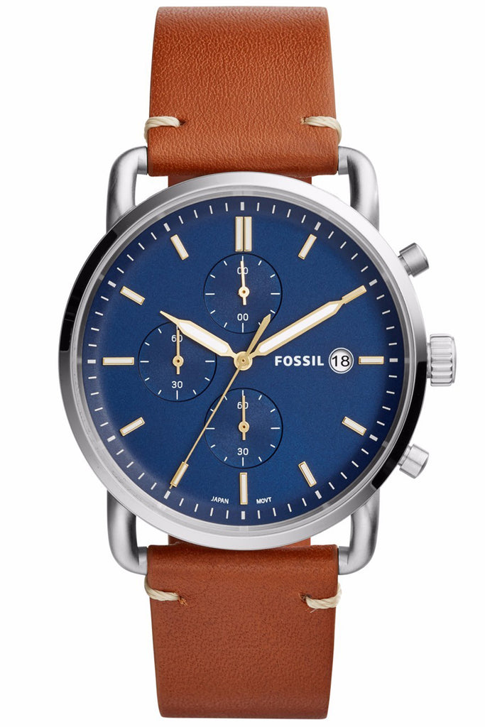 Fossil The Commuter Chronograph Brown Leather Strap FS5401