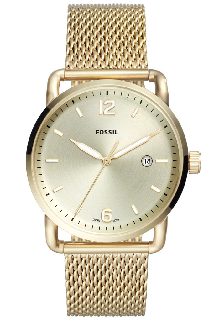 Fossil The Commuter Gold Stainless Steel Bracelet FS5420