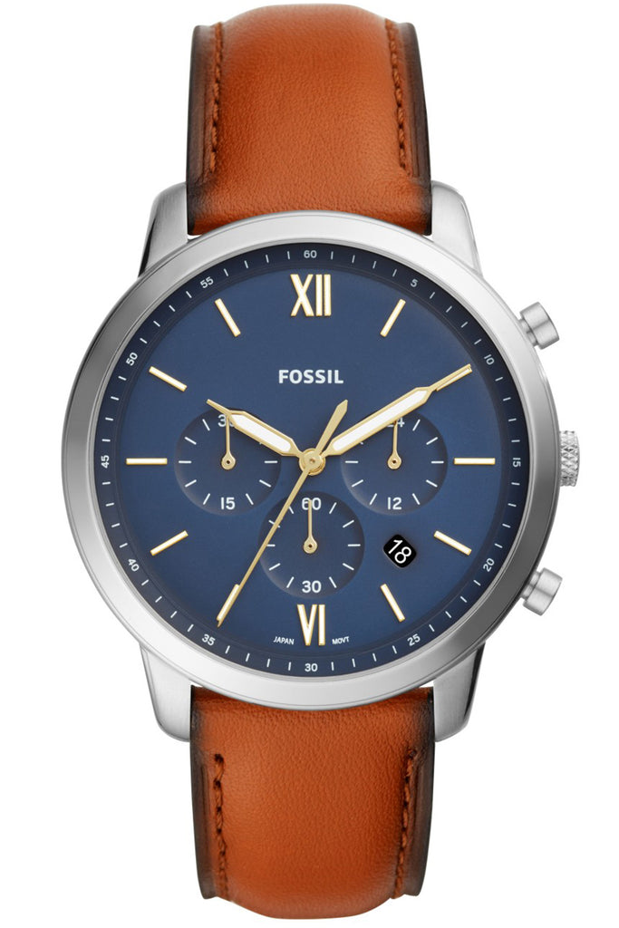 Fossil Neutra Chronograph Brown Leather Strap FS5453