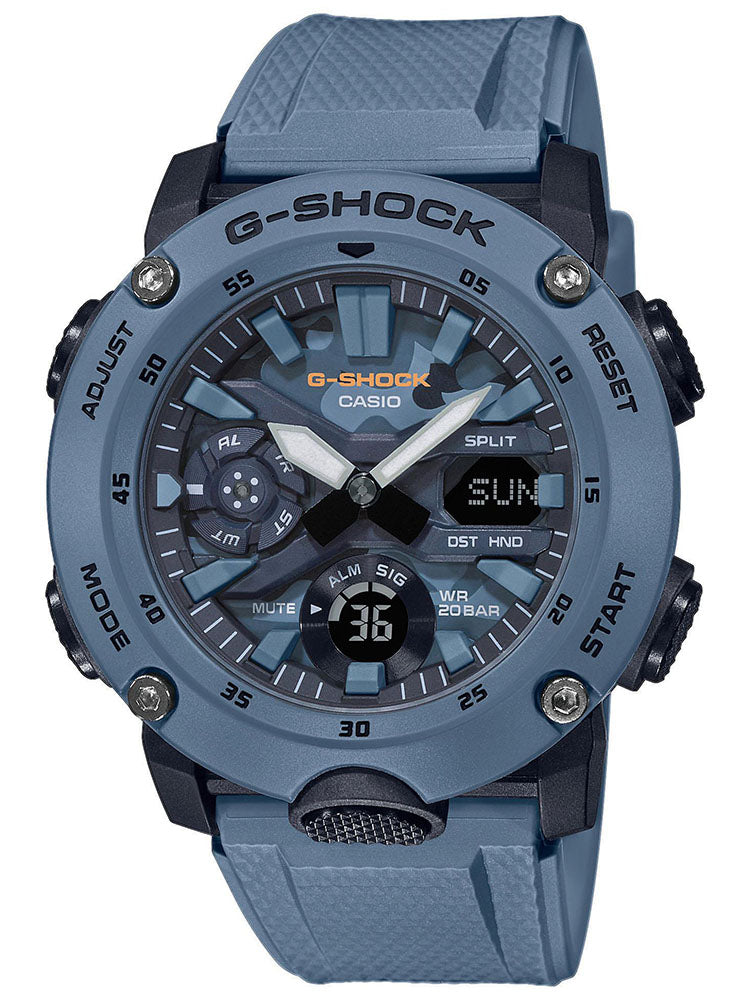CASIO G-Shock Blue Rubber Strap GA-2000SU-2AER