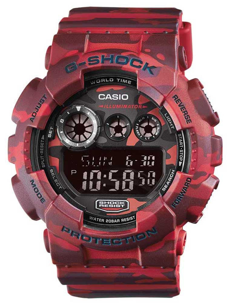 CASIO G-SHOCK Digital Camouflage Rubber Strap GD-120CM-4ER