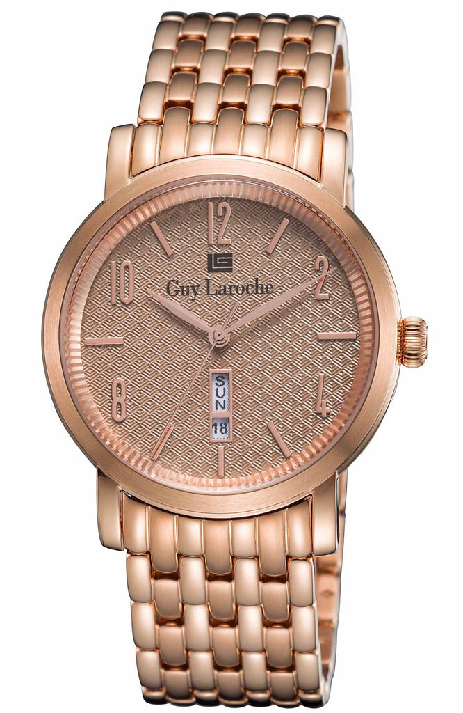Guy Laroche Gents Rose Gold Stainless Steel Bracelet GW1019-08