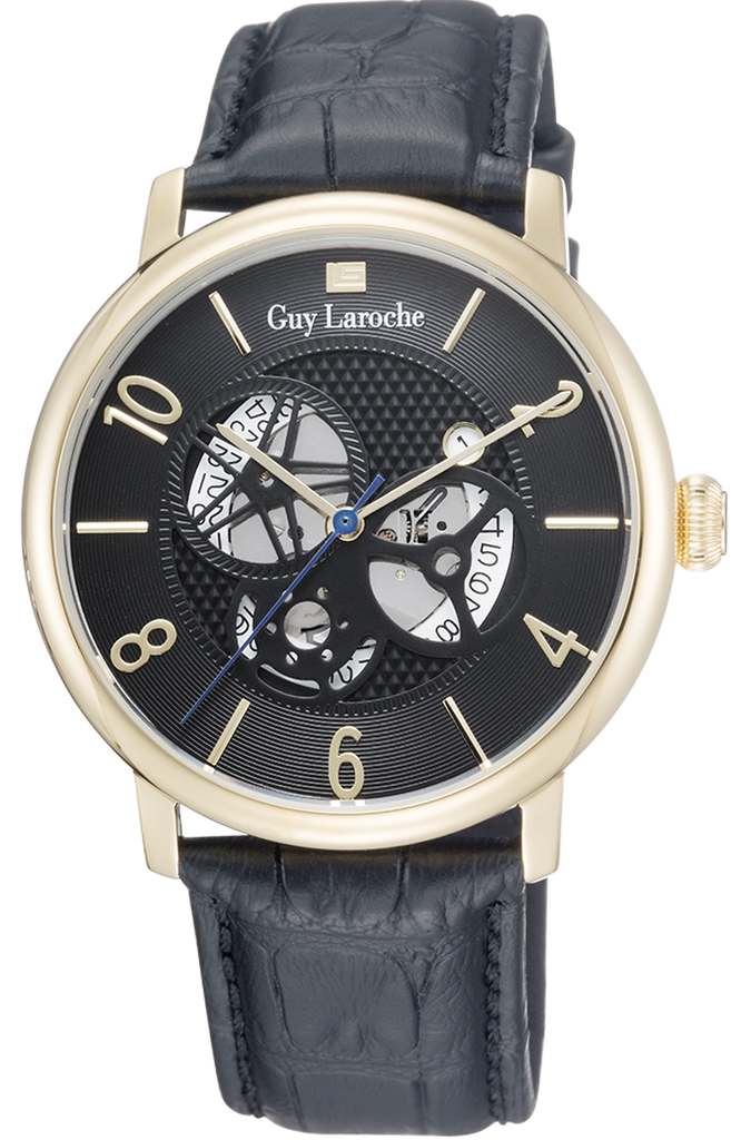Guy Laroche Gents Black Leather Strap GW2004-05