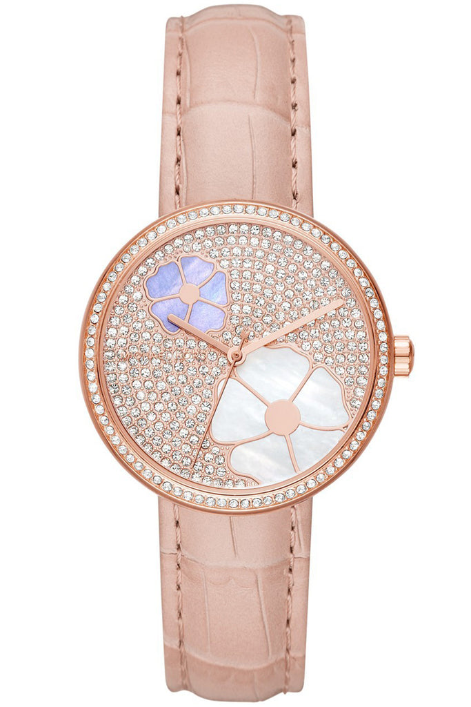 MICHAEL KORS Courtney pink leather Strap MK2718