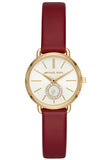 Michael Kors Petite Portia Crystals Red Leather Strapp MK2751
